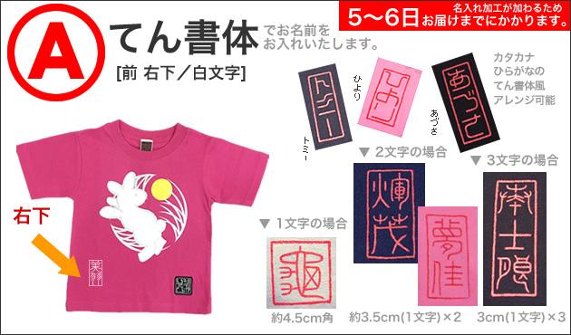 ジャポリズム 和柄Tシャツ「月見うさぎ図」(ピンク)/半袖 JAPO-RHYTHM